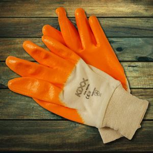 Glove Firm Yellow-Grey small